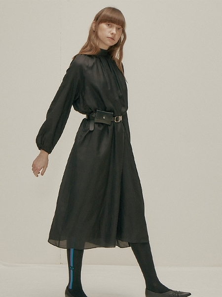 WNDERKAMMER Silk Blended Dress - Black