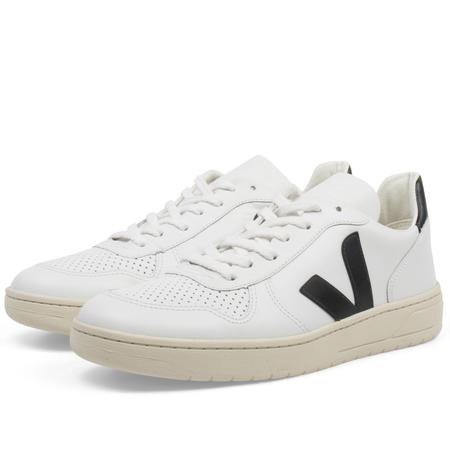 unisex Veja v10 leather sneaker - Extra White Black