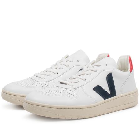 unisex Veja v10 leather sneaker - White Nautico Pekin
