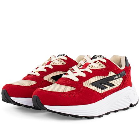 unisex Hi-Tec HTS74 silver shadow sneaker - Red/Cream/Black