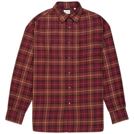 Aspesi macro button up shirt - Dark Red