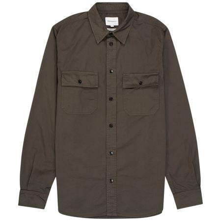 Norse Projects villads light twill shirt - Beech Green