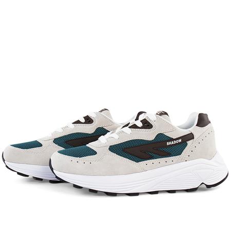 unisex Hi-Tec HTS74 silver shadow sneakers - Offwhite/Teal/Brown