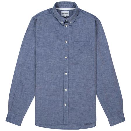 Norse Projects cotton linen shirt - True Blue