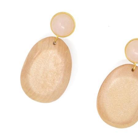 Sophie Monet Rose Petal Earrings
