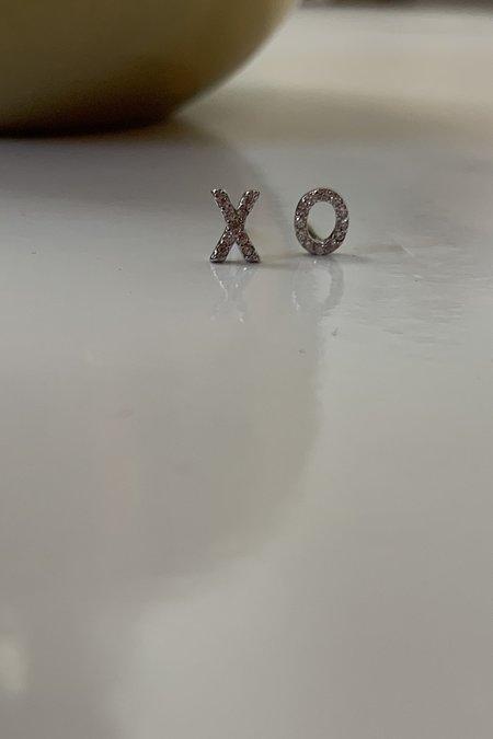 Katie Diamond XO Studs - Sterling Silver