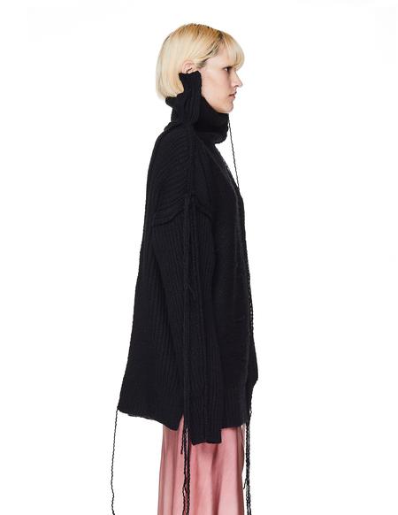 Yohji Yamamoto Yarn Trimmed Wool Sweater - Black