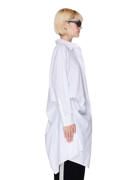 Yohji Yamamoto Cotton Asymmetric Shirt - White