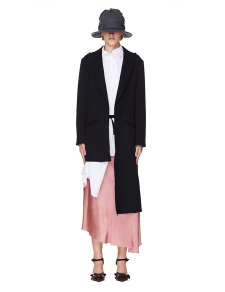 Yohji Yamamoto Asymmetric Wool Jacket - Black