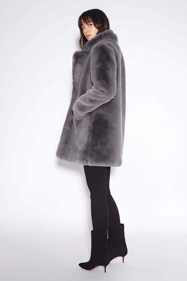 APPARIS Sophie Faux Fur Coat - Carbon
