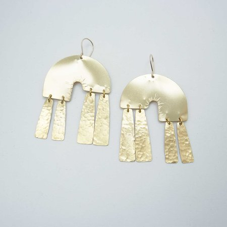 Fade into the Abstract Daydreamers Earrings - Brass
