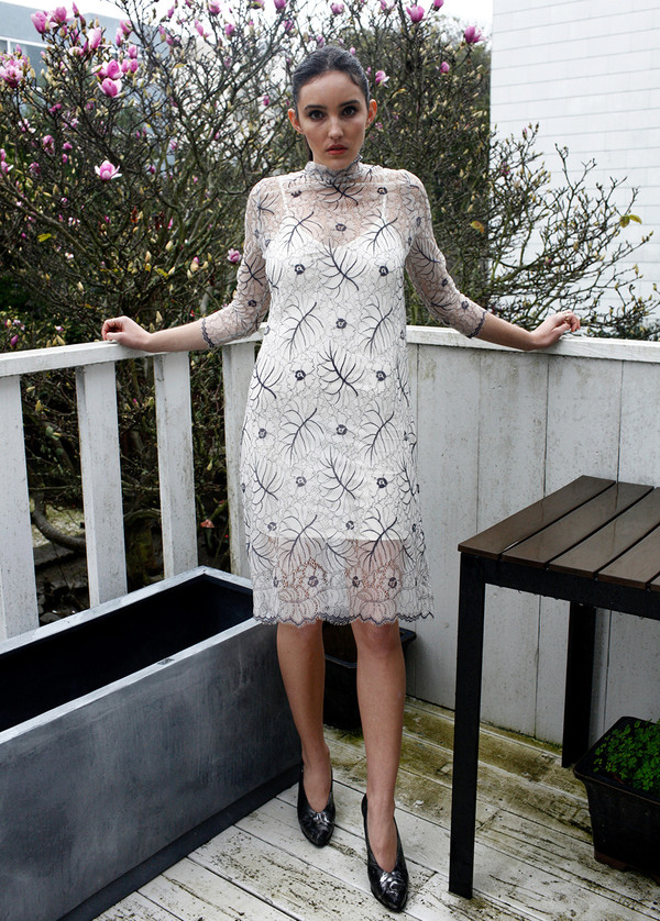 Ganni California Lace Dress | Garmentory