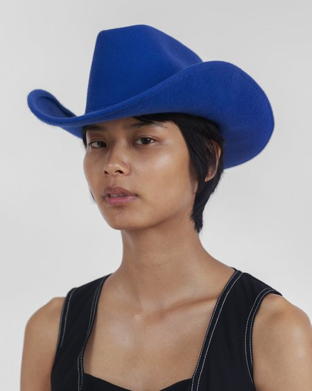 Clyde Wool Cowboy Hat - Electric Blue