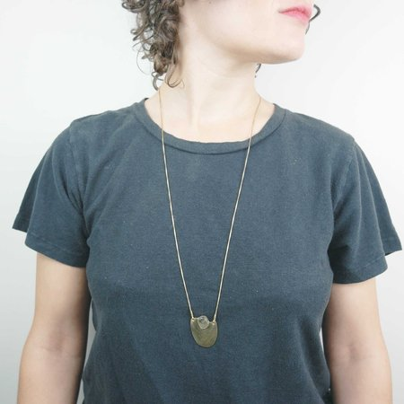 Fade into the Abstract Sway Necklace - Labradorite Brass