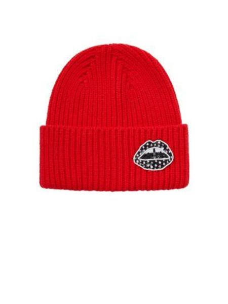 Markus Lupfer Star Lip Rib Beanie - Red