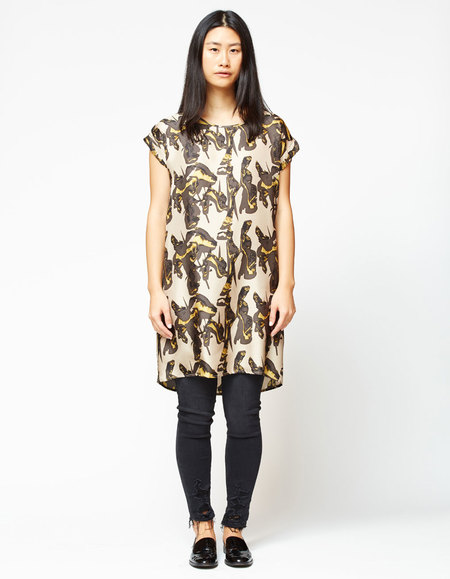 H Fredriksson Box Dress - Ecru