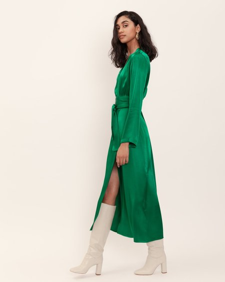 BEFORE MARCH Eliah Wrap Dress - Emerald