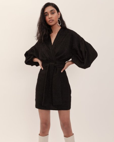 BEFORE MARCH Isabel Mini Wrap Dress - Black