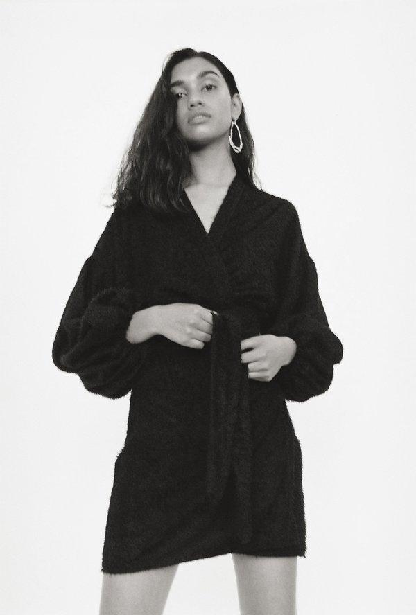 BEFORE MARCH Isabel Mini Wrap Dress - Black