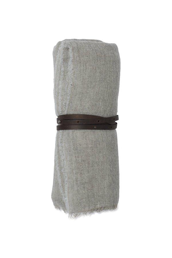Oyuna Esra Finely Woven Light Cashmere Travel Throw - Grey Mist