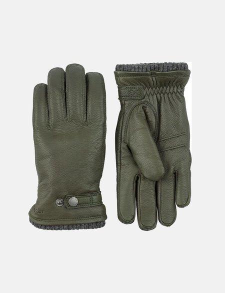 Hestra Utsjo Leather Sport Gloves - Forest Green