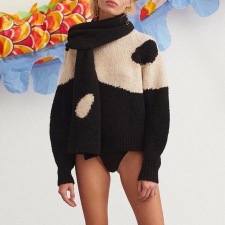 Paloma Wool Coco Scarf - Black/cream
