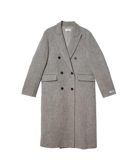Jelome Jel Double Breasted Coat - Grey Melange