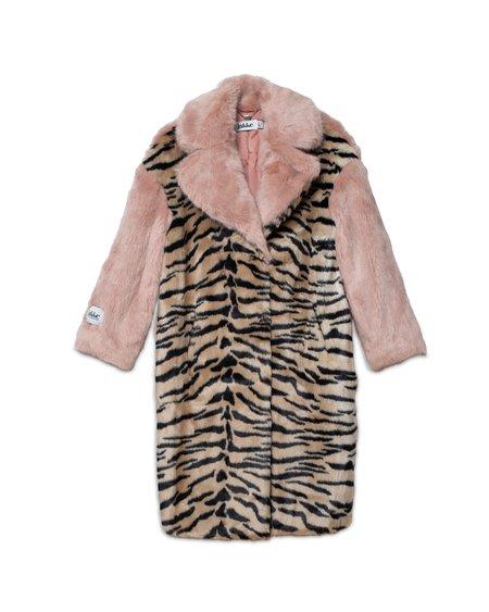 Jakke Kelly Faux Fur Coat - Tiger/Pink