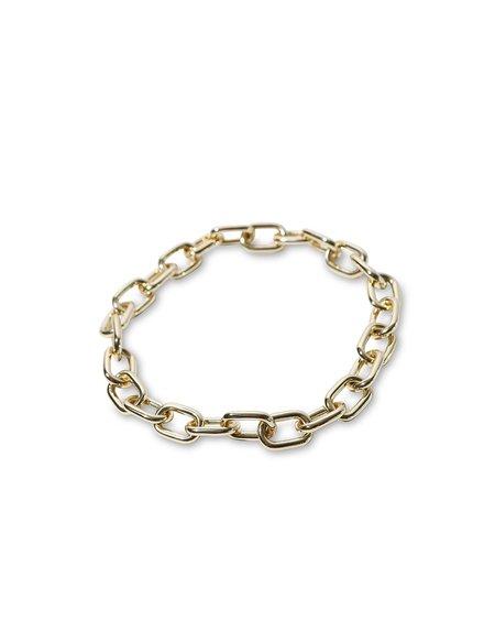 Machete Link Statement Necklace - Gold