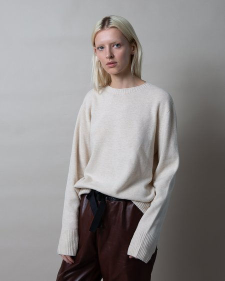 maran Lola Cashmere Blend Sweater - Oatmeal