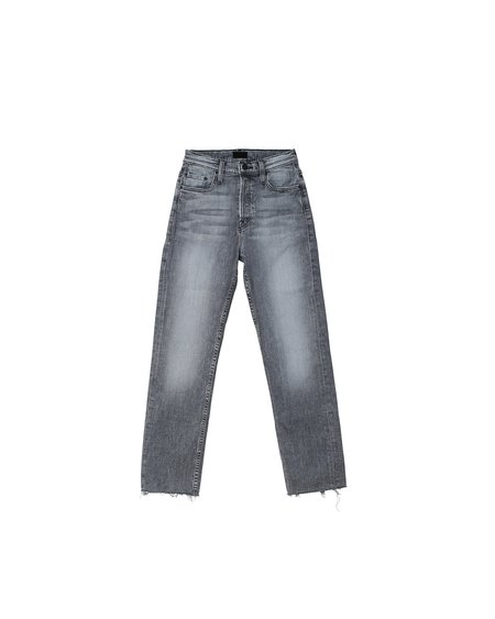 Mother Denim The Tomcat Ankle Fray Jean - Grey Wash