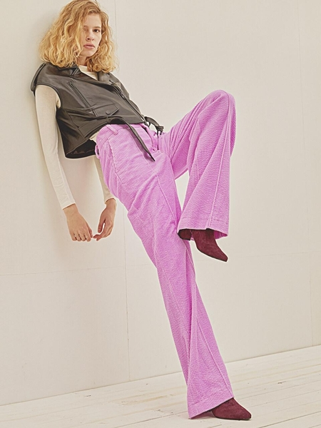 HOLY NUMBER 7 Corduroy Pants - Neon Pastel
