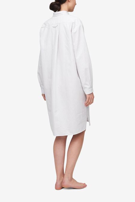 The Sleep Shirt Long Sleep Shirt - Dove Grey Stripe
