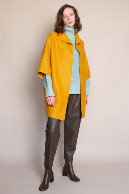 Harris Wharf London Kimono Cape - Golden Yellow