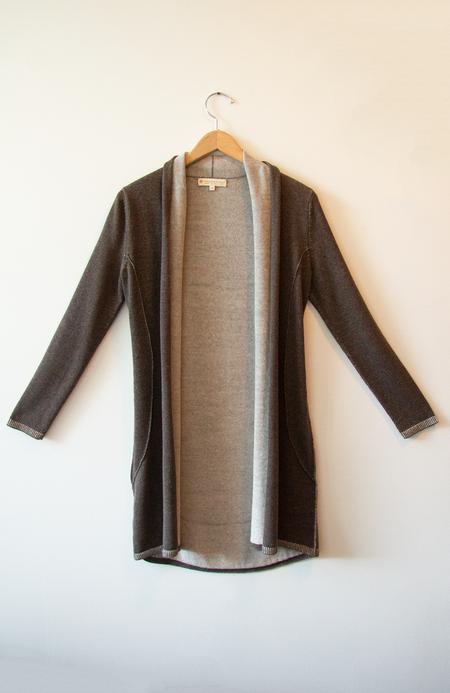 Indigenous Luxury Reversible Cardigan - Stone/Oatmeal