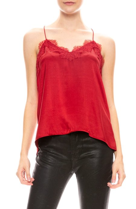 Cami NYC Racer Charmeuse Camisole - GARNET