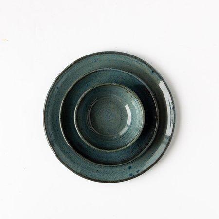 Caroline Haurie 3-Piece Dinnerware Set - Blue Stoneware