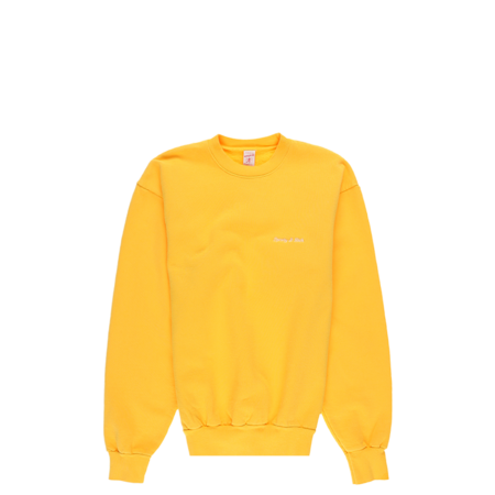 Unisex Sporty & Rich Classic Logo Crewneck Sweatshirt - Sunflower