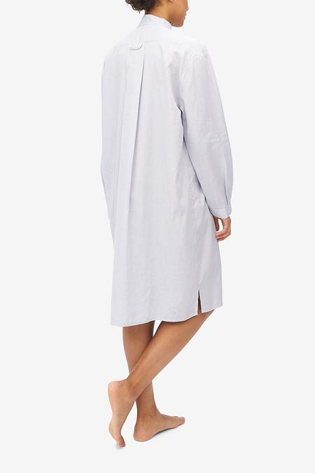 The Sleep Shirt Long Point Cotton Sleep Shirt - Grey