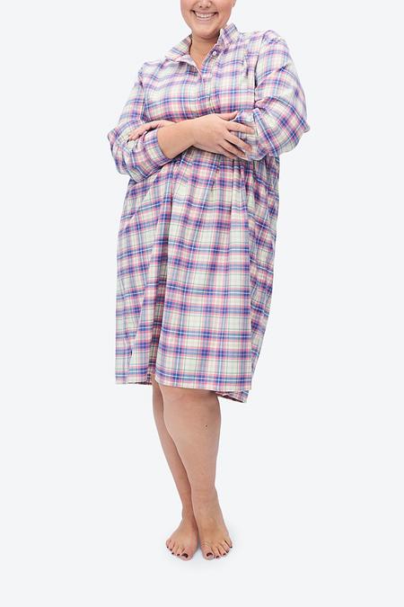 The Sleep Shirt Plus Long Sleep Shirt - Pink Carnaby Plaid