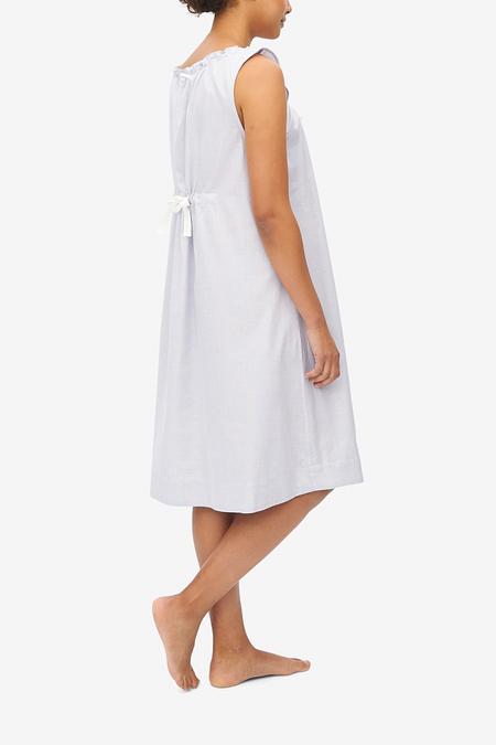 The Sleep Shirt Sleeveless Point Cotton Nightie - Grey