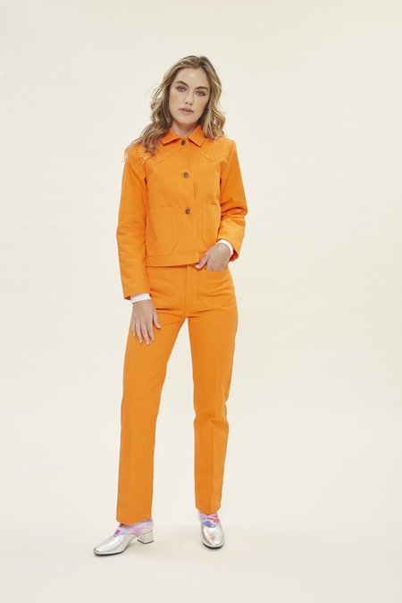 LYKKE WULLF PERFECTED RANCH WORKWEAR PANT - orange