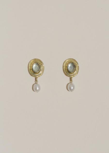 Mondo Mondo Viva Earrings - Brass