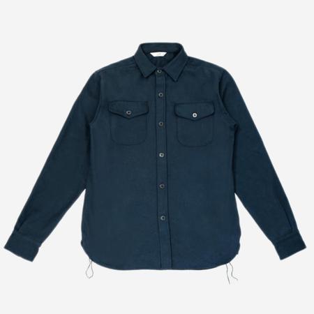 3Sixteen CPO Heavyweight Twill Shirt - Navy