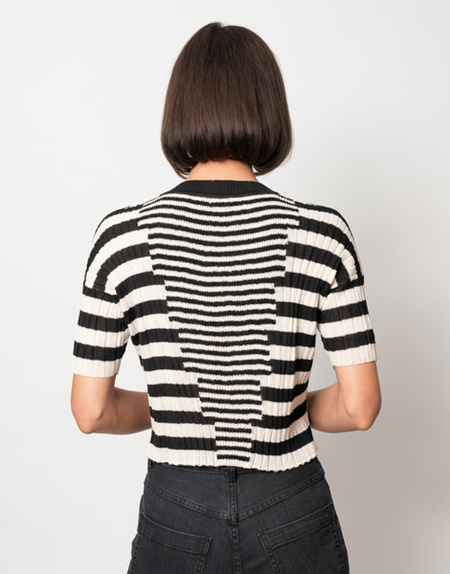 Rachel Comey River Top - Ecru Stripe