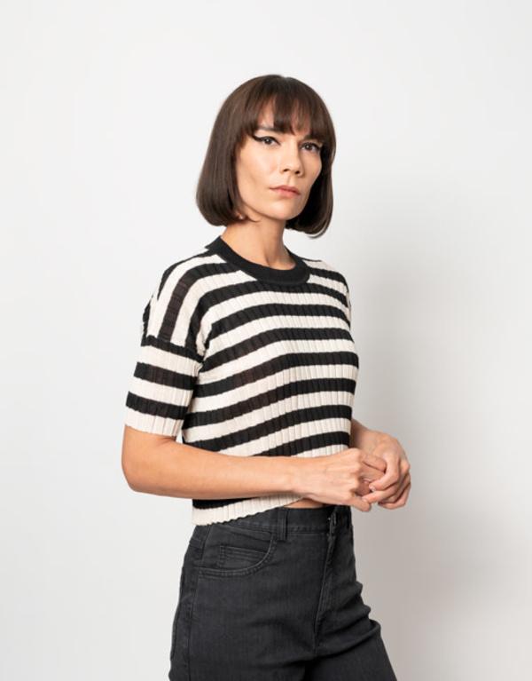 Rachel Comey River Top - Ecru Stripe
