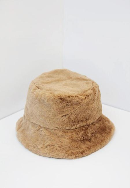 Collection & Co Faux Fur Bucket Hat - Camel