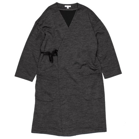 Engineered Garments Cache Coeur Wool Poly Merino Jersey Knit Dress - Charcoal