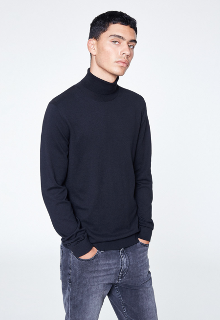 Armedangels rollback sweater - black