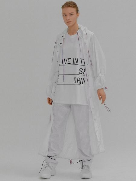 EENK Miley Long Anorak Coat - White
